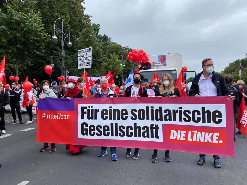 Demonstrationfür eine gerechte und solidarische Gesellschaft